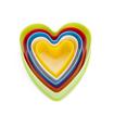 Imagem de Cortador em Plástico Coração 5pçs  FT080 - SILVER